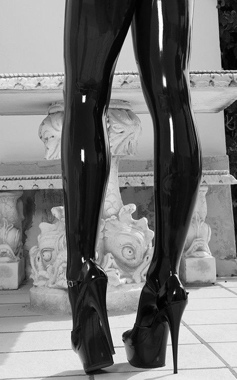 Latex stockings / catsuit. #fetish Me again counting my latex legs blessings away. Catsuit made me do this. ERECTION AWAY!!!  Andie  Can.