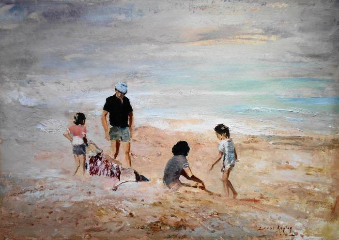 Errol Boyley - Family on the beach