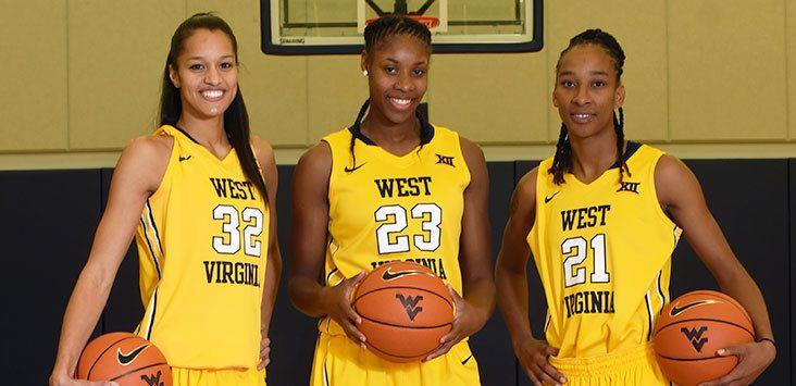 Nike Team Issue Women's Nike West Virginia Basketball Jersey #14 Size Medium #Nike #Jerseys