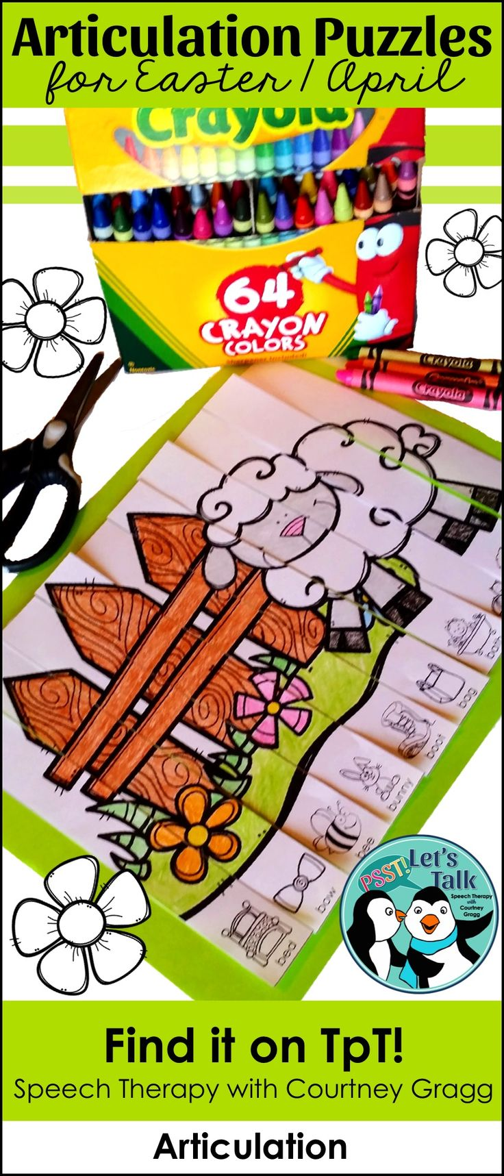 Coloring activities speech therapy - April Articulation Puzzles Articulation Therapyarticulation Activitiesspeech