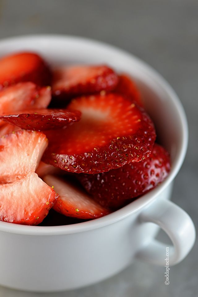 Simple Macerated Strawberries with three variations from addapinch.com   #strawberries