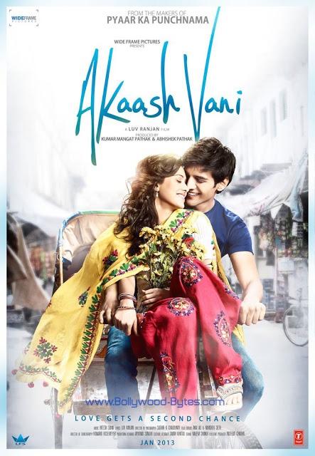 First Look Poster : AkaashVani Feat. Kartik Tiwari & Nushrat Bharucha