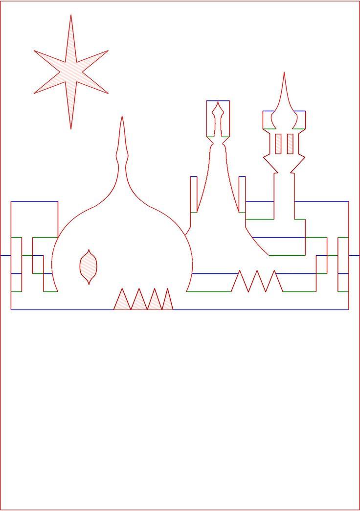 409 best Cards     Pop      up    castles  houses   churches images