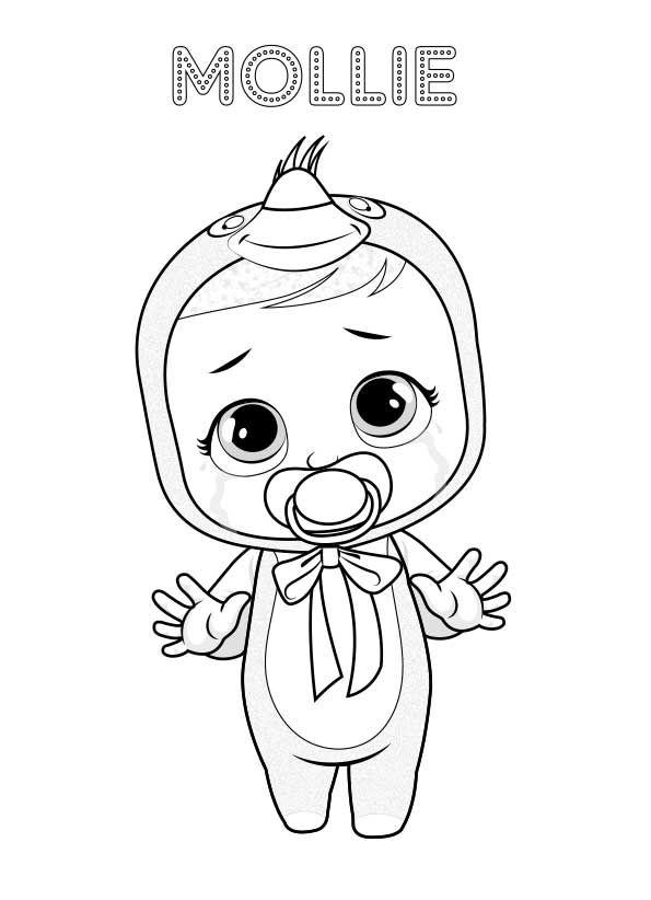 A Pintar Bebés Llorones Lágrimas Mágicas La Llorona Unicornio Colorear Caricatura De Bebé