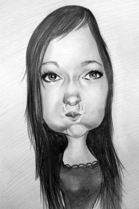 Caricatura_8 - Desen în Creion de Ionuț Mureșan // Caricature_8 - Pencil Drawing by Ionuț Mureșan