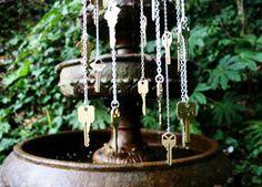 Homemade Rain Chain   DIY key windchime