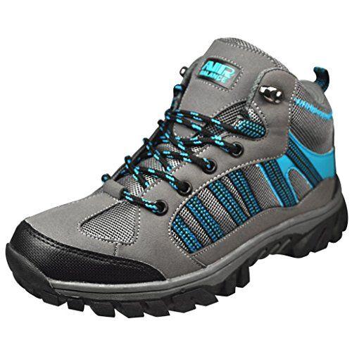 Air Balance Girls Hiking Boots -Grey Black Cyan *** ADDITIONAL INFO @ http://www.usefulcampingideas.com/store/air-balance-girls-hiking-boots-grey-black-cyan/?a=8613