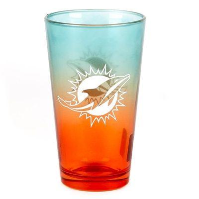 Miami Dolphins 16oz OMBRE Pint Glass: Miami Dolphins 16oz OMBRE Pint Glass