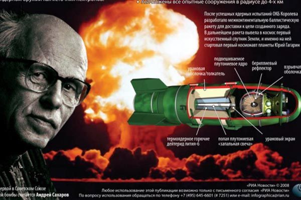 Andrei Sakharov is often referred to as The Father of the Soviet Hydrogen Bomb.