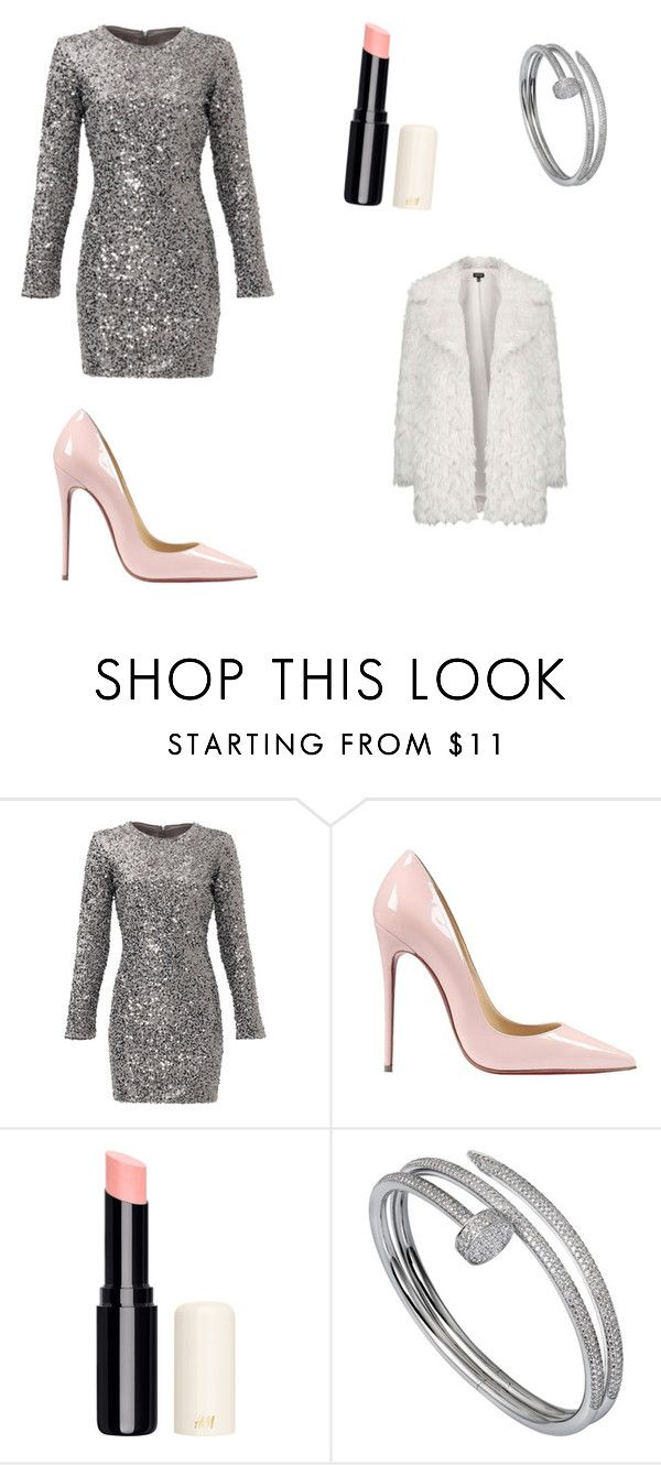 """passagem de ano"" by isabel-bastos ❤ liked on Polyvore featuring Slate & Willow, Christian Louboutin, Cartier and Topshop"
