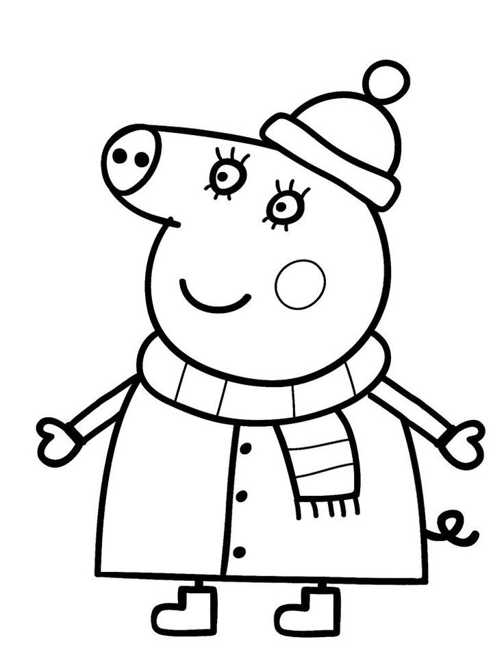 Peppa Pig Colouring Pages Free Printable in 2020 | Peppa ...