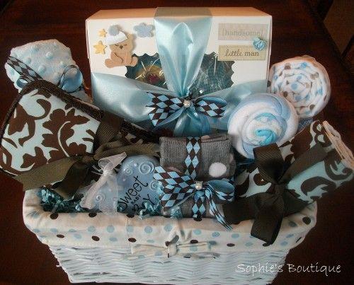 Deluxe 25 Piece Sweet Baby Boy Gift Basket Onesies Baby
