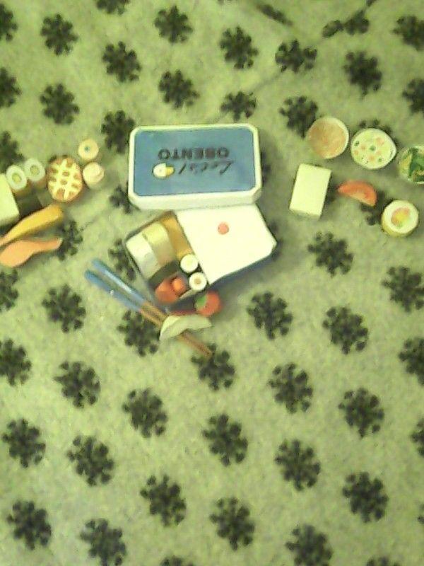 Bento Box + Japanes Food Papercraft By RinNeko-Nyan