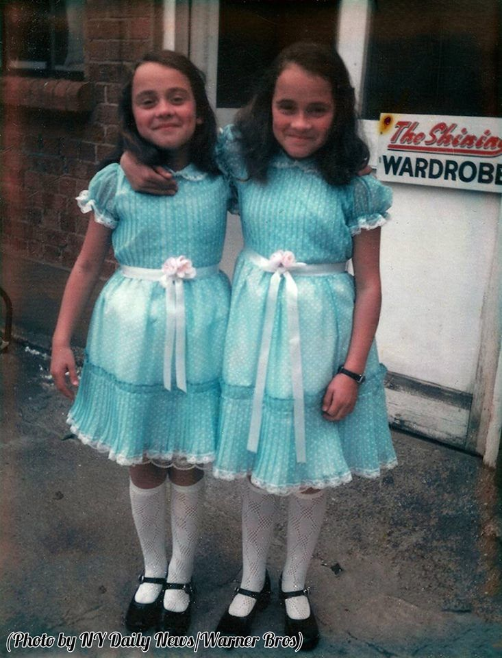 'The Twins,' Lisa and Louise Burns take a break from filming, 1980.