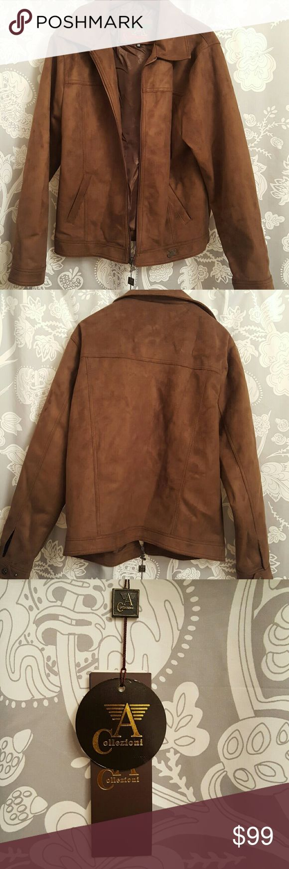 New w/Tags Armani Collezioni brown suede jacket Mens Brown suede, New with tags leather suede jacket Never worn Armani Collezioni Jackets & Coats Performance Jackets
