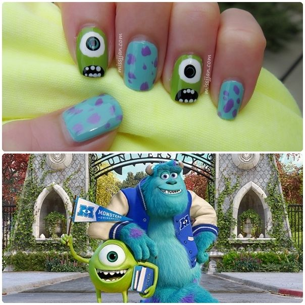 Today I'm sharing with you this Monsters University inspired nail art. It's cute and fun to wear on the nai...