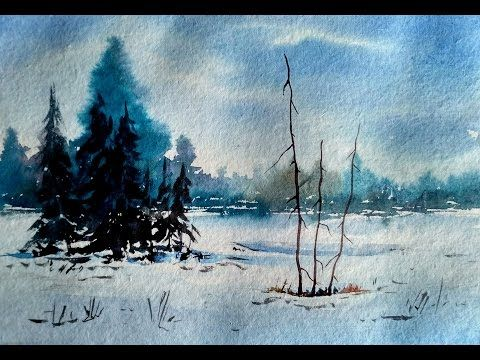 Simple Landscape Painting in Watercolor| Paint with david | - YouTube