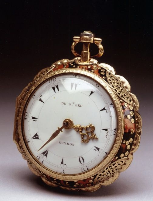 A superb & very rare George III gold pocket watch made 1780  for the Turkish export market signed on the white enamel dial De St  Leu London and also signed and numbered on the movement and dust cover 4040 Dan de St  Leu Watch Maker to her Majesty London.