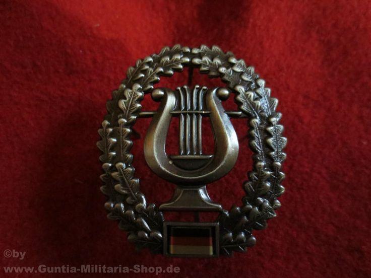 BW Barettabzeichen, Musikkorps, Metall / mehr Infos auf: www.Guntia-Militaria-Shop.de