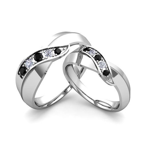 Matching Wedding Band In Gold Infinity Diamond Rings Bands Feature Round Diamonds Set Yellow Or White Ring