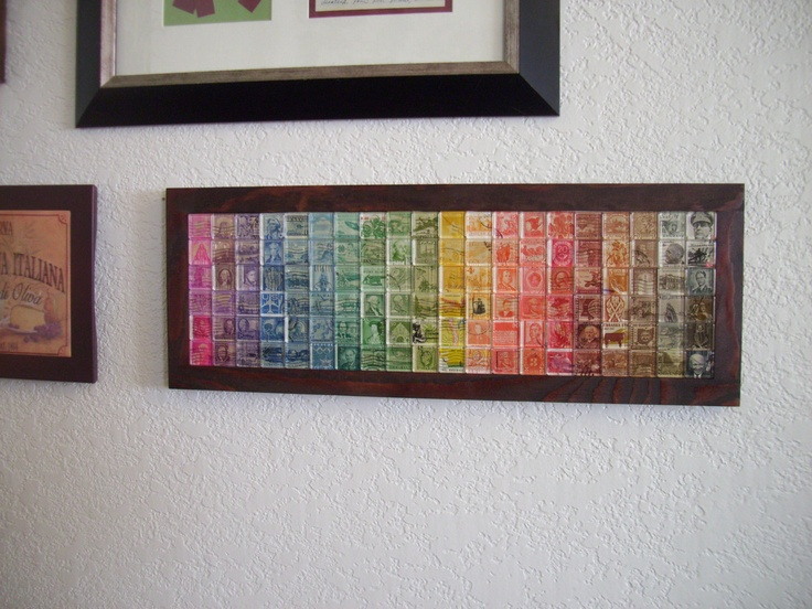 Postage Stamp Art - First Class Spectrum