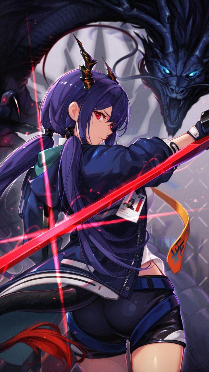 Chen [Arknights] (1707 x 3035) in 2020 Anime neko, Anime