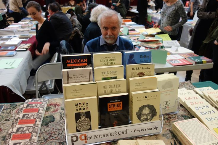 Tim Inkster from the Porcupine's Quill. Meet the Presses Literary Market. November 19, 2016. Photo by Don McLeod.