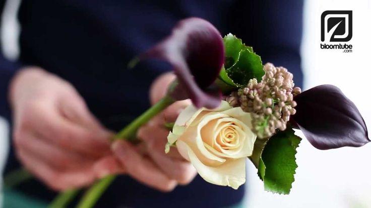 How to make a Bridal Bouquet, Wedding bouquet Bloomtube DIY