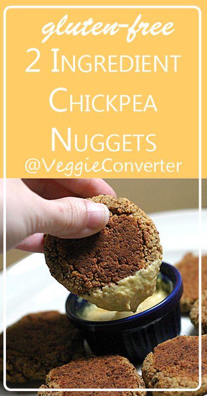 2 Ingredient Chickpea Nuggets | @VeggieConverter grainfree vegan