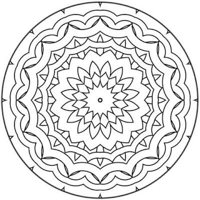 Mandala. Mandala para pintar. Mandala for painting. Mandala of coloring