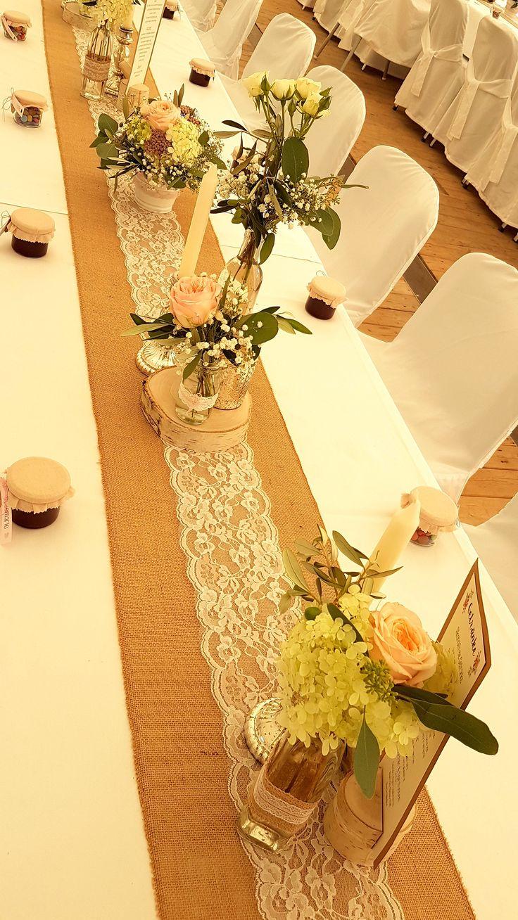 Hochzeit / Wedding / Tisch / Tischdeko / Herz / Ba…