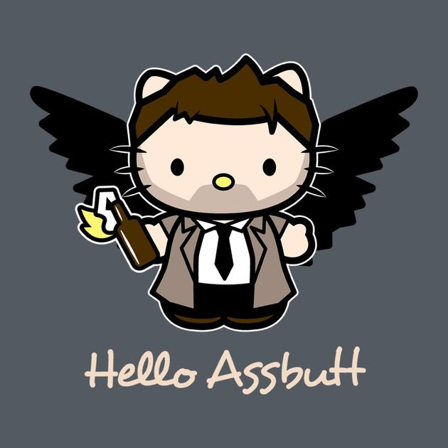 Hello Assbutt - Supernatural tee, $20  (John laughed SO HARD at this one. Think we'll have to get him one...)