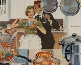 1950s traditional gender roles were that the women stayed home, cleaned to house, cooked the meals, and cared for the children. Men were the breadwinners, having  outside, paying jobs to financially support the family. Men were also the heads of the household and all of the members were submissive to the fathers.