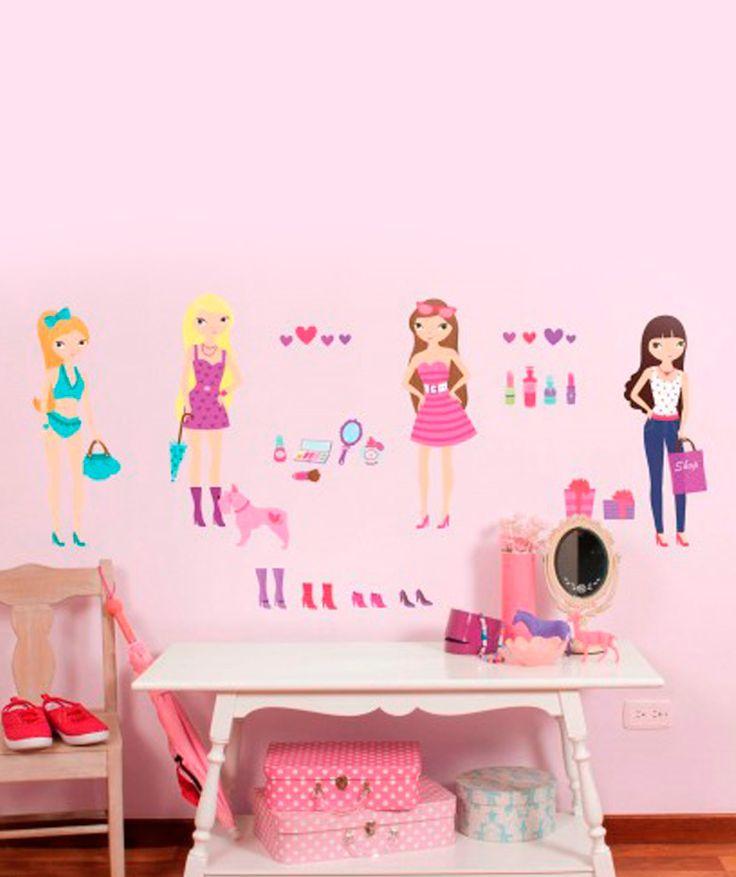 Mu ecas fashion vinilo adhesivo decoraci n de paredes for Decoracion paredes vinilos adhesivos