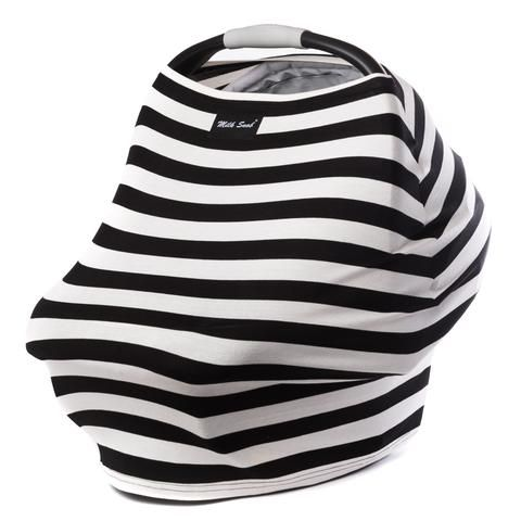 The Milk Snob® Cover is the original fitted infant car seat cover that can also be used as a nursing cover. Use as an infant car seat cover or nursing cover. Offers true 360 coverage. The stylish and modern way to protect your child against harsh sunlight, wind and unwanted onlookers when used as a car seat cover. Modern and easy to use. Luxuriously soft and airy. 4 way stretch allows for a custom fit on any infant car seat and for extra comfort while nursing. New Moms love to receive it...