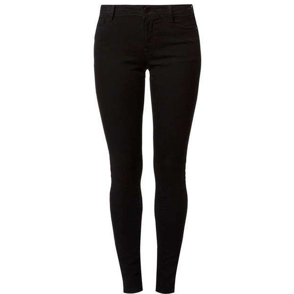 Black 'Bailey' Ultra Stretch Jeans ($28) ❤ liked on Polyvore featuring jeans, pants, super stretch skinny jeans, dorothy perkins, stretchy jeans, dorothy perkins jeans and stretch jeans