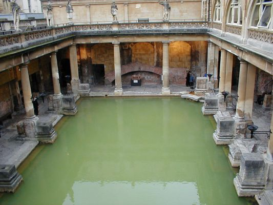 Roman Bath, Bath, England.  one pic, and now I went to reread Rosemary Sutcliffe