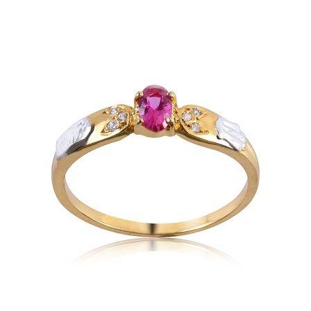 Anel de Formatura Ouro com Diamante 3 Pontos AG013