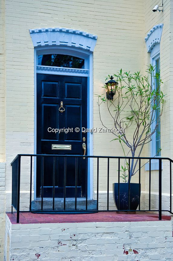 Colorful historic row houses doorway doors private residences Georgetown & 44 best rowhouse doors images on Pinterest | Front doors Front ... Pezcame.Com