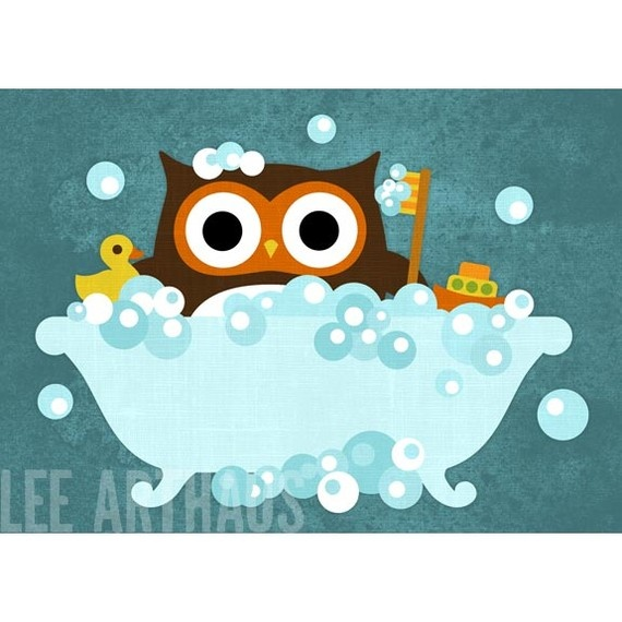 Retro Owl Bath For Dallis.