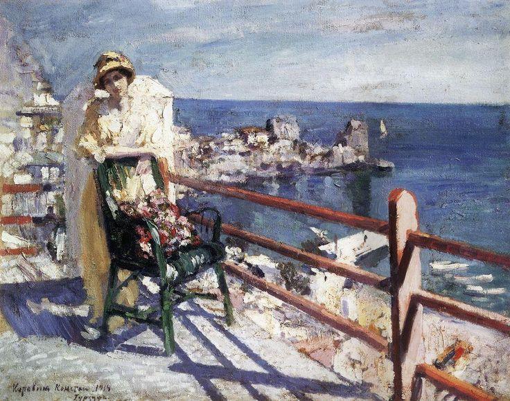 Konstantin Korovin (Russian 1861–1939) [Impressionism, Art Nouveau] Gursuf, 1914. Russian Museum, St. Petersburg, Russia.