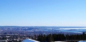 The view from Holmenkollen over oslo