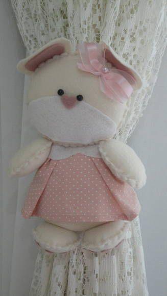 Prendedor De Cortina Ursa | Mon Cherry Baby | 30C336 - Elo7