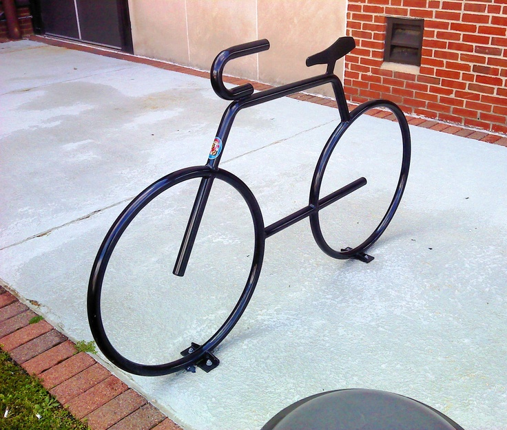 Bike rack at the Charles County, Maryland county government building.