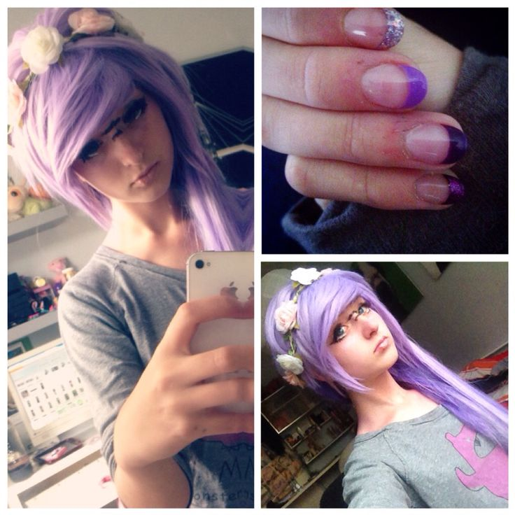 Pastel goth outfit 2 Wig : ebay Flowercrown : tally weil Gel nails : nailartstudio Top : cropp  ChibiMikuXx