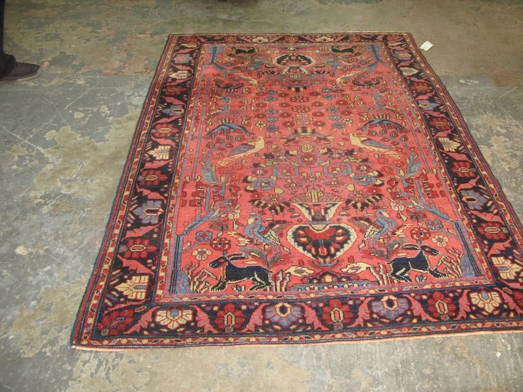 Antique Persian Senneh Malayer 4 6 X Hand Knotted Wool Rug Tree Of Life