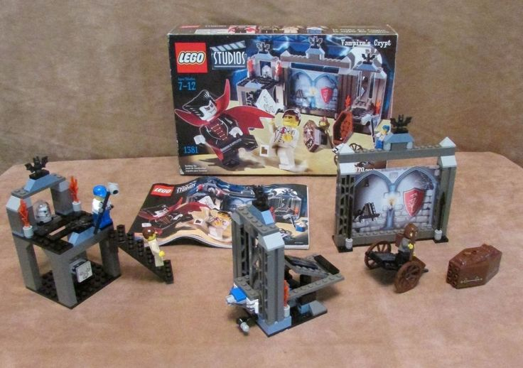 1381 Lego Studios Vampire's Crypt Complete instructions box classic monsters #LEGO