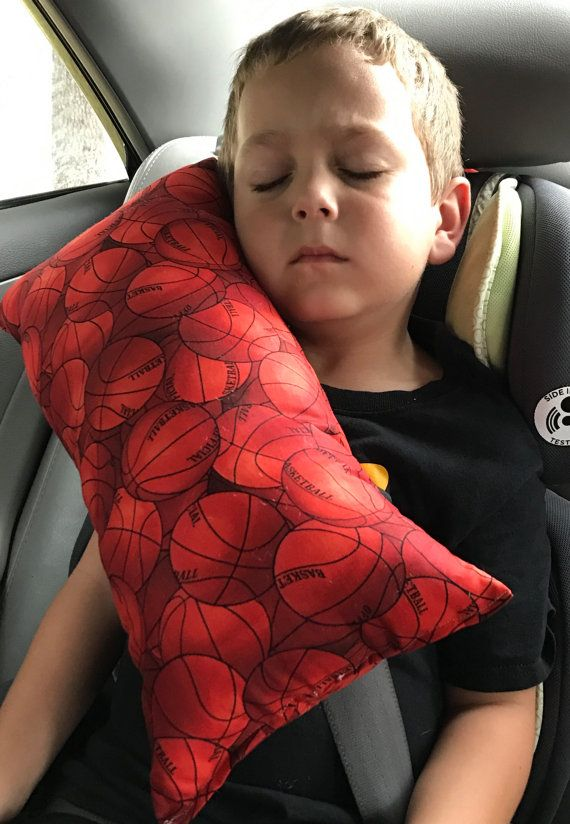 basketball seat belt pillow kids travel pillow by jenammyes