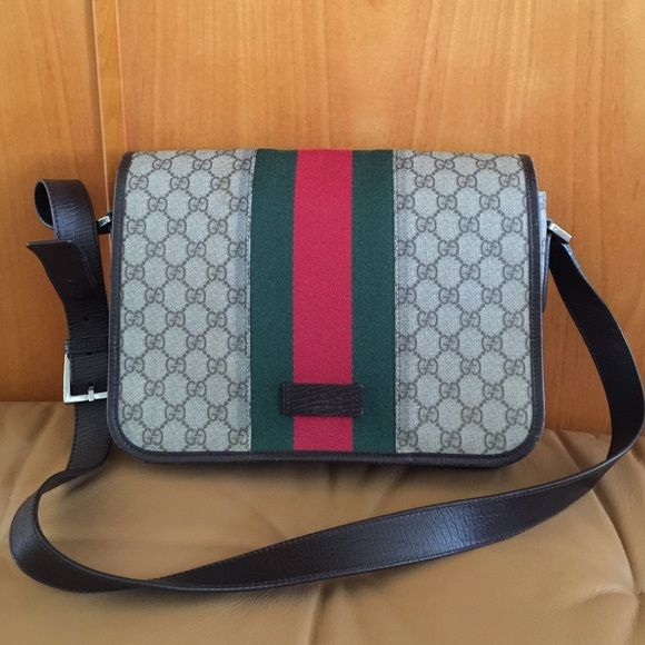 Authentic Gucci Messenger Bag 100% Authentic Gucci Messenger Bag, made in Italy,  looks new at very good condition! Gucci Bags