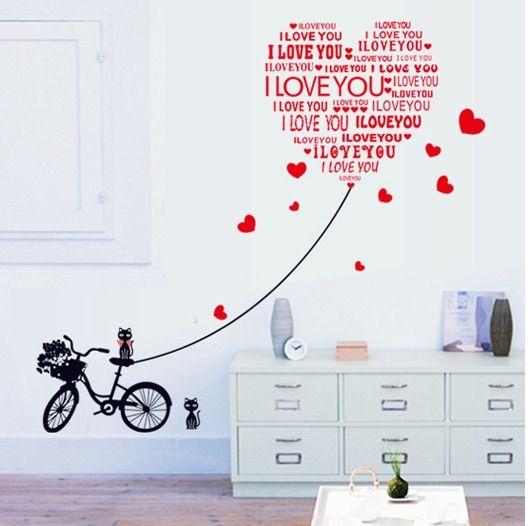 Väggdekor cykel kärlek